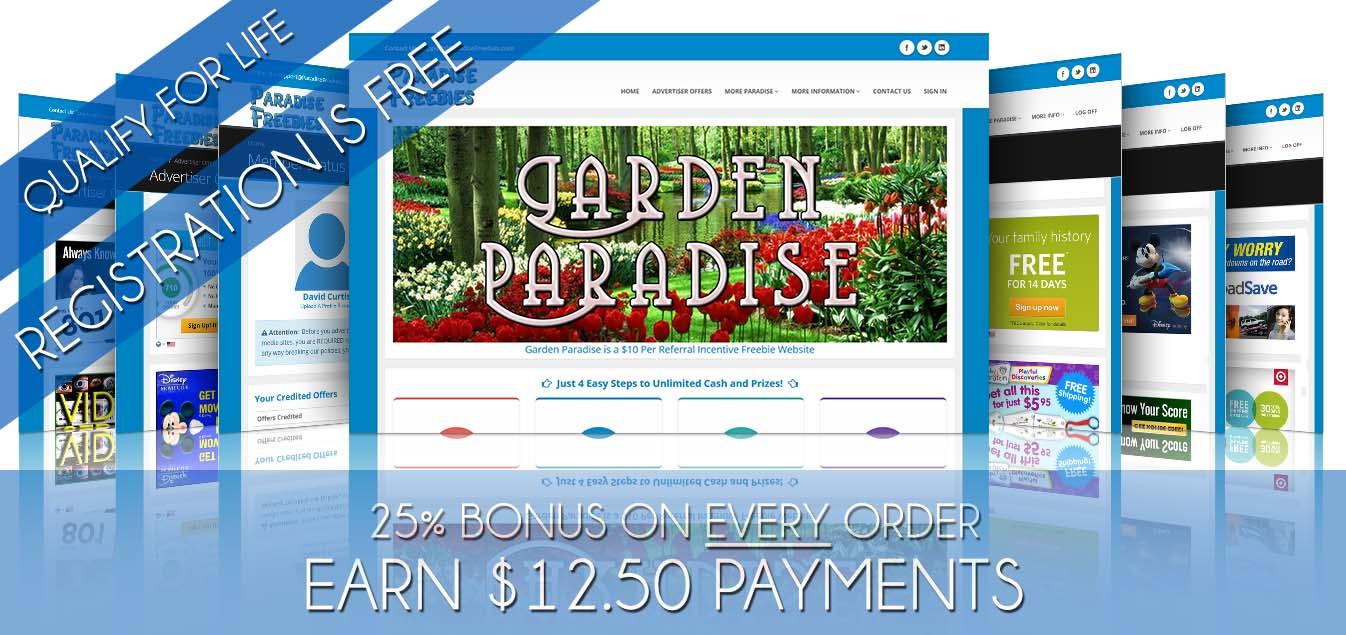 Garden Paradise Freebies