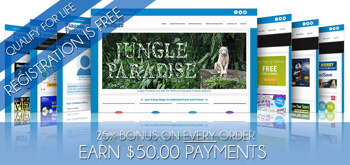 Jungle Paradise Freebies